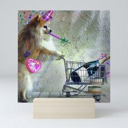 Cute Little Party Animal Mini Art Print