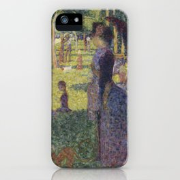 "Study for ""A Sunday on La Grande Jatte"" iPhone Case"