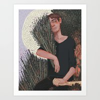 snk Art Prints featuring SNK- Lavender by Dylo