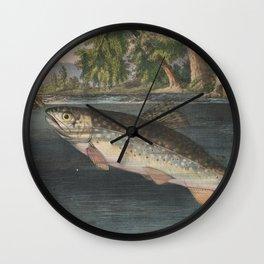 Vintage River Fishing Illustration (1874) Wall Clock