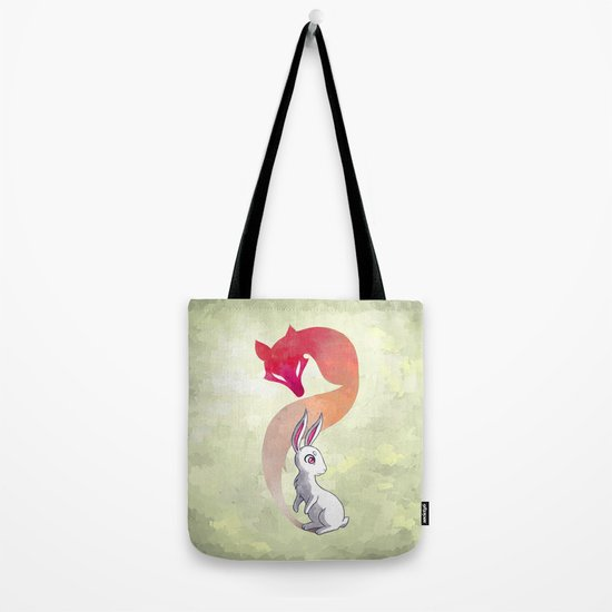 Rabbit and a Fox Tote Bag