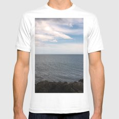 Drift White Mens Fitted Tee MEDIUM