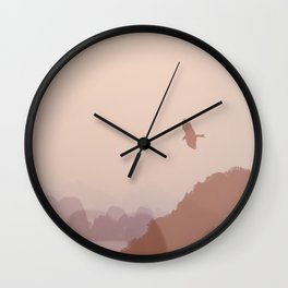 Flying High over Halong Bay Wall Clock