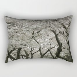 """Crab Apple and Sakura"" Rectangular Pillow"