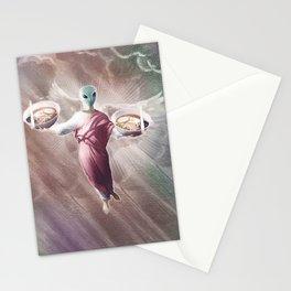 Ramen Alien Jesus Stationery Cards