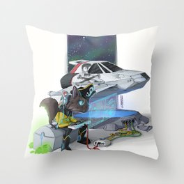 What a pirate without his ship Throw Pillow
