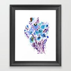 Bouquet Blue Framed Art Print