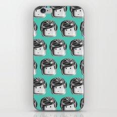 Minifigure Pattern – Teal iPhone & iPod Skin