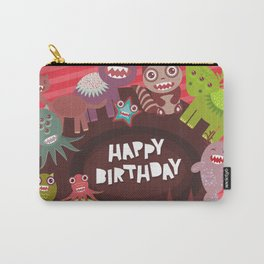 Happy birthday Funny monsters card Carry-All Pouch