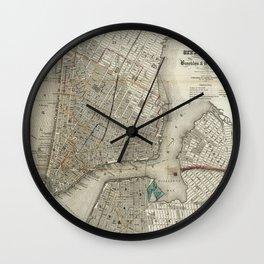New York 1840 Wall Clock
