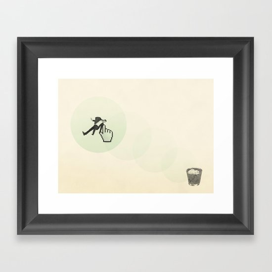 trash man Framed Art Print
