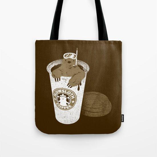 SlowSloth Coffee Dive Tote Bag