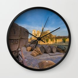 Docks of Notre dame de Paris Wall Clock