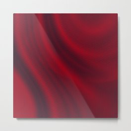 Digital Satin Ruby Red Abstract Metal Print