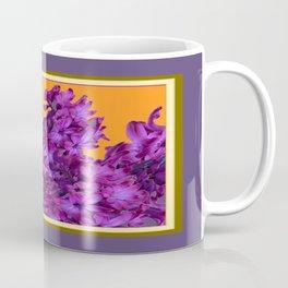 Decorative Purple Hyacinths Puce-Orange Color Art Coffee Mug
