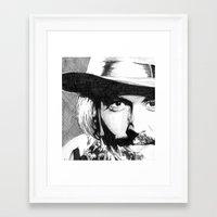 johnny depp Framed Art Prints featuring Johnny Depp by DeMoose_Art