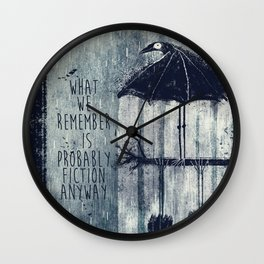 Rainy Ravens Wall Clock