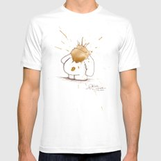#coffeemonsters 468 LARGE White Mens Fitted Tee