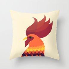 Cock Throw Pillow