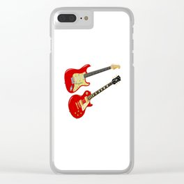 Red Elecric Guitars Clear iPhone Case