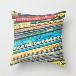 Quarantine Book Titles Throw Pillow