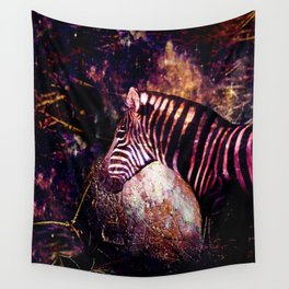 Celestial Zebra of the Equidae Eclipse Wall Tapestry