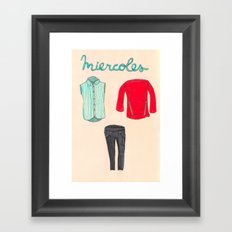Miercoles outfit Framed Art Print