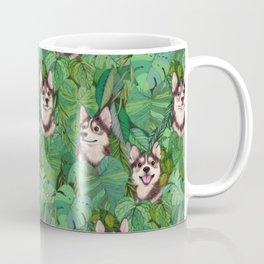 Pomsky Garden Coffee Mug