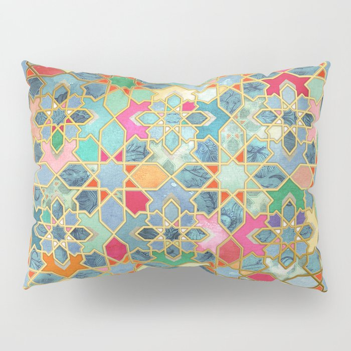 Gilt & Glory - Colorful Moroccan Mosaic Kissenbezug