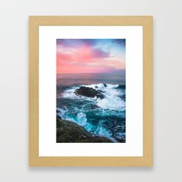 Sunset on the Bay of Biscay Framed Art Print