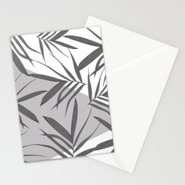 White grey leaves collage 1 Stationery Cards