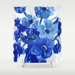 blue stillife Shower Curtain