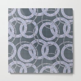 Abstract pattern circles on the grey background. Metal Print