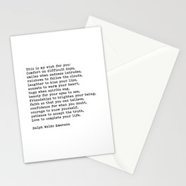 This Is My Wish For You, Ralph Waldo Emerson Quote Stationery Cards