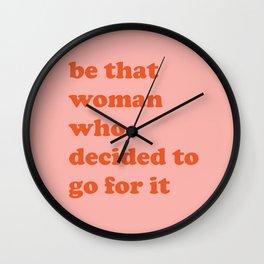 Female Empowerment Entrepreneur Quote Wall Clock