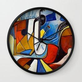 La Vie est Belle en Couleurs Primaires Wall Clock