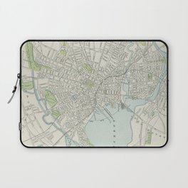 Vintage Map of New Haven Connecticut (1901) Laptop Sleeve