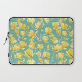 Yellow Magnolia Spring Bloom Laptop Sleeve
