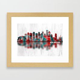 New Orleans Louisiana Skyline Framed Art Print