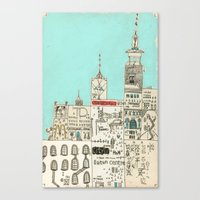 toronto Canvas Prints featuring Toronto by Nayoun Kim