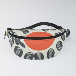Black plant and red sun Fanny Pack