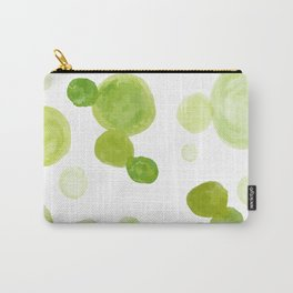Abstract Green Watrcolor Circes Carry-All Pouch