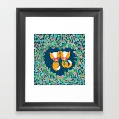 Valentine Fox Framed Art Print