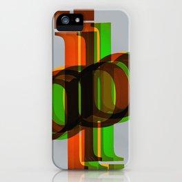 La ballade des lettres iPhone Case