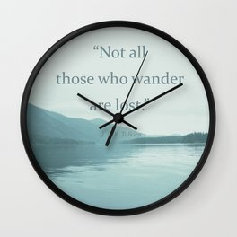 Blue Lake + Tolkien Quote Wall Clock