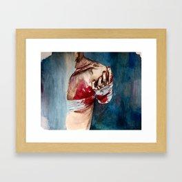 Drama queen love Framed Art Print