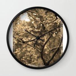 Tree of Hearts - Sepia Wall Clock