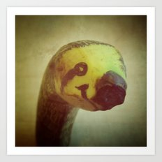 Banana Sloth Art Print