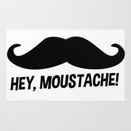 Hey Moustache Rug