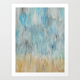 Clouds Caress Earth Art Print